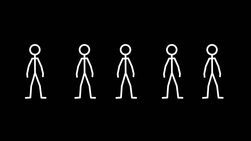 More stickman action loops. All start and ends on a neutral position, So you will be able to edit these poses to suit your production. | Shutterstock HD Video #20659702
