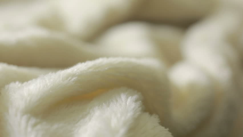 White fur for background or texture. warm blanket