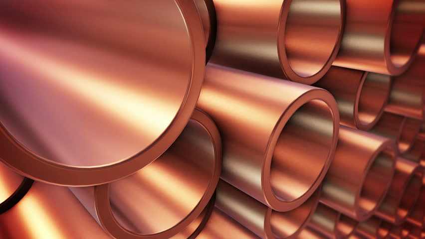 3D rendering of Copper pipes on warehouse. | Shutterstock HD Video #20668462