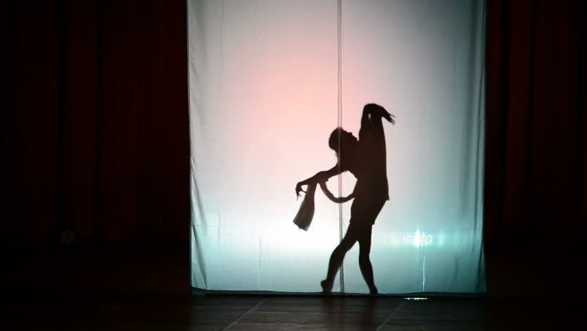 The dancer dances behind a white background, dance of a shadow. | Shutterstock HD Video #20786272