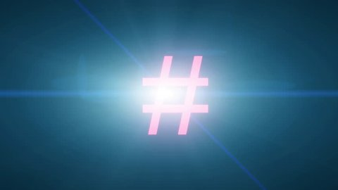 Hash tag hashtag explode tweet twitter social media network post label pound sign 4k