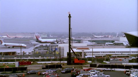 day right from planes tarmac main terminal JFK airport New York John F Kennedy Airport