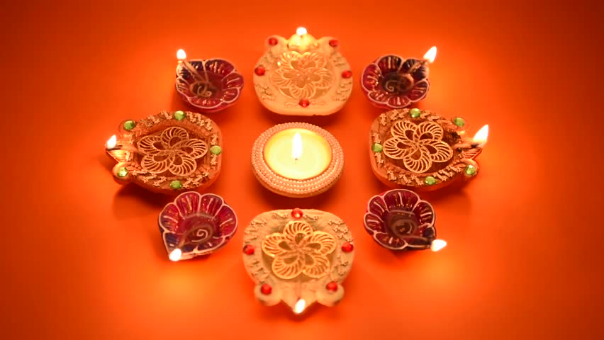 Diwali Lamps Footage Page  Stock Clips