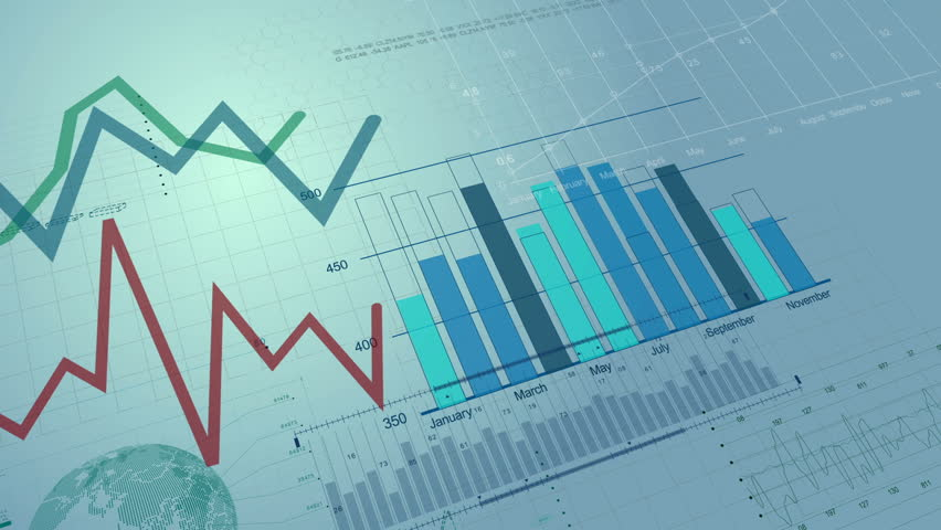 Beautiful seamless 3d animation of Stock Market Charts Growing. Financial Figures and Diagrams Growing on Digital background. Looped. HD 1080. | Shutterstock HD Video #20911642