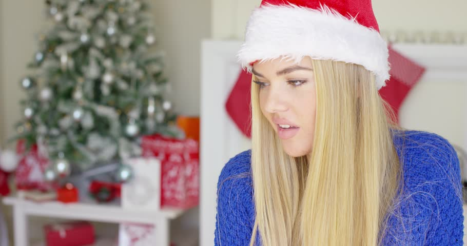 Kaif blonde girl with christmas hat get fucked teen videos