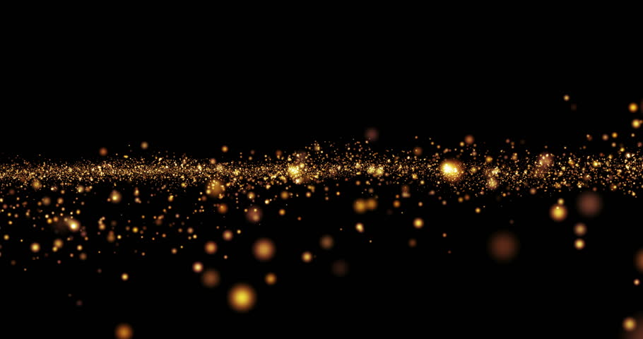 christmas golden light shine particles bokeh loopable on black background, holiday concept #20968102