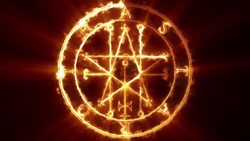 Stock Video Of Baphomet Pentagram Symbol Is Animation Of 18759239