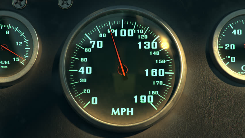 02600 Seamless Animation Of Speedometer Fast Car Automobile Speed Dashboard Accelerate