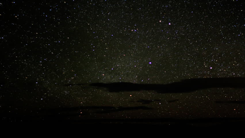 Milkyway Timelapse 02 Meteors - HD stock video clip