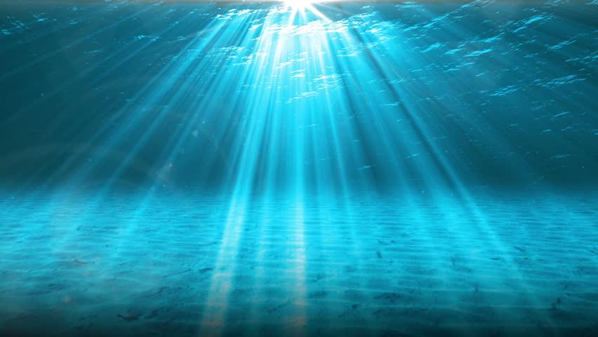 Underwater Scene. Summer Travel Background. Stock Footage ...