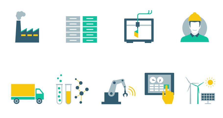 Industry 4 0, Automation and Production Stock Footage Video (100%  Royalty-free) 21193972 | Shutterstock