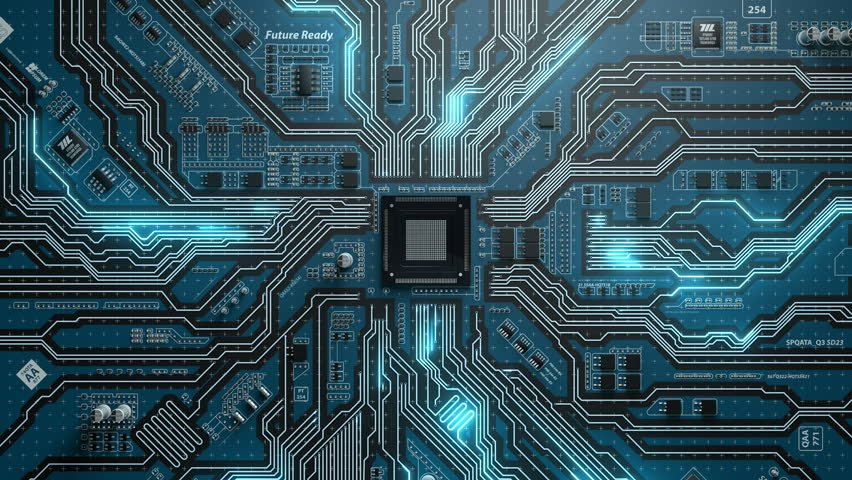 Seamlessly looping futuristic of electronic board | Shutterstock HD Video #21247042