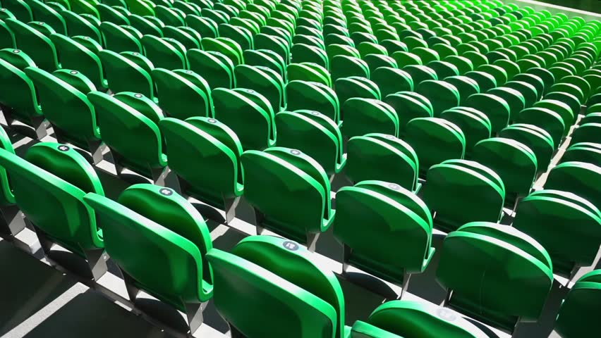 Seating rows in a stadium with weathered chairs | Shutterstock HD Video #21274531