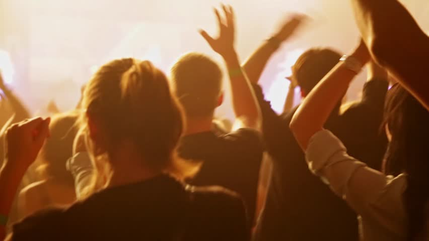 Crowd dancing at music concert. Close-up   Shutterstock HD Video #21280252