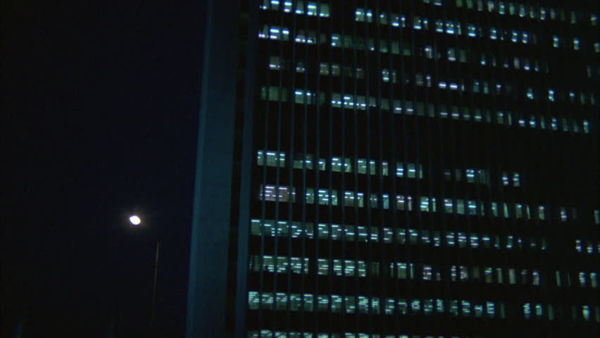 Night Up angle Push large government office building | Shutterstock HD Video #21292522