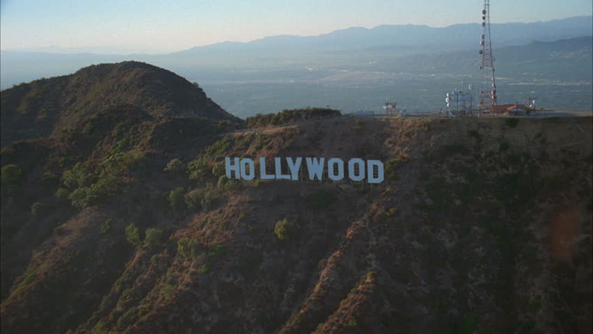 Hd0031day Aerial Low Forward Over Hollywood Hills Hollywood Sign