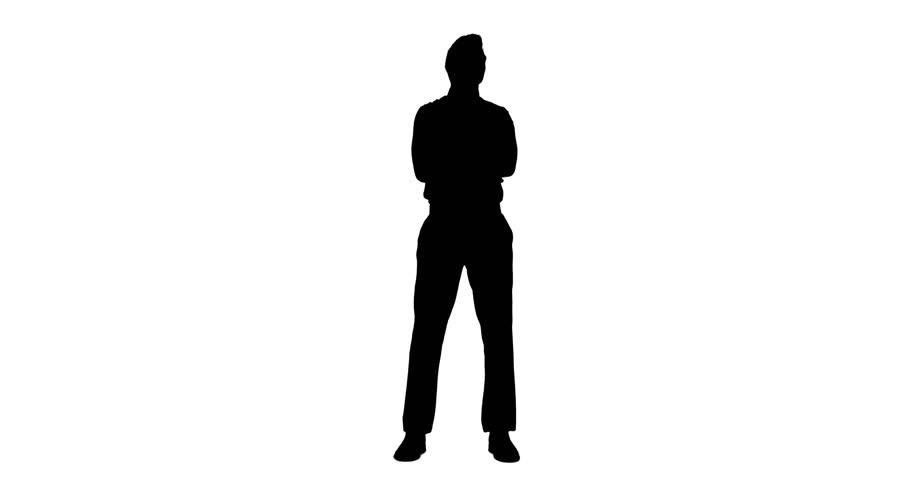 standing businessman silhouette cartoon royalty free - 910×480
