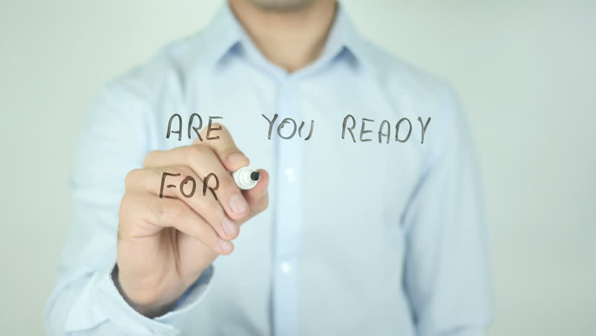 Are You Ready for Tomorrow ?, Writing On Transparent Screen | Shutterstock HD Video #21461476