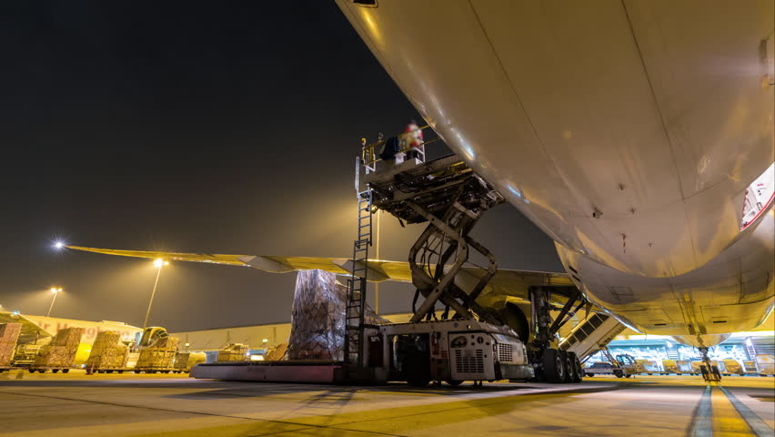Outside cargo plane loading | Shutterstock HD Video #21473002