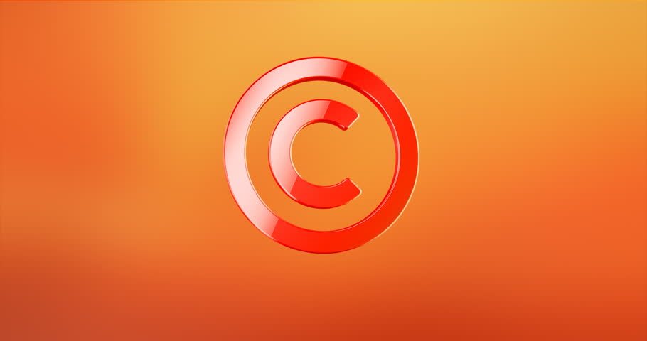 Animated Copyright Red 3d Icon Loop Modules for edit with alpha matte | Shutterstock HD Video #21491902