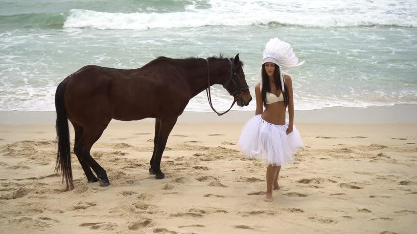 Slow Motion Unicorn Horse Riding Princess Stock Footage Video 5821001  Shutterstock-9624