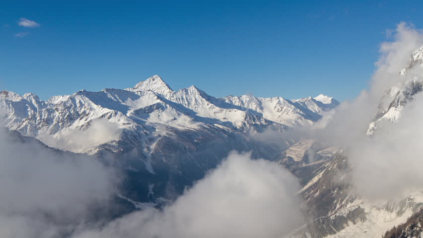 Beautiful time lapse of the mountains at courmayeur and mont blanc in italy | Shutterstock HD Video #21608359