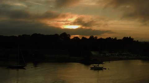 Sunset Newport, Rhode Island, RI boats in the ocean sailing