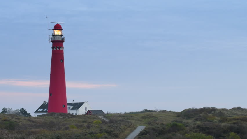 Lighthouse In The Dunes At The Island Of Schiermonnikoog In The