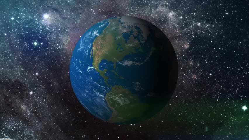 3d Earth Animation.Universe Zoom .Background Animation ...