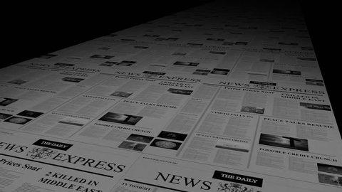 NEWSPAPER PRINTING PRESS SEAMLESS