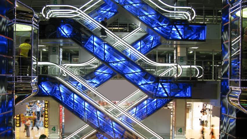 Stock Video Of Escalators In Shop 217732 Shutterstock