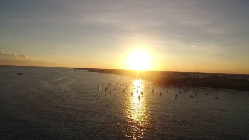 Clear ocean water sunset reflection | Shutterstock HD Video #21791902