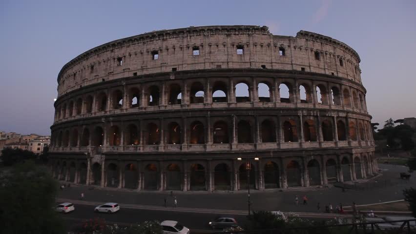 Famous Italian Architecture 17 september 2015 :colosseum, rome, italy. aerial roman coliseum