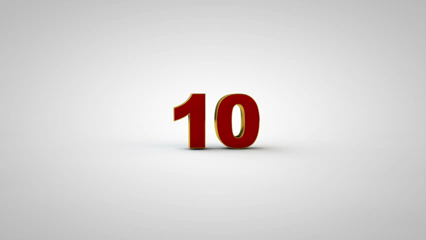 3D countdown from 10 to 0. | Shutterstock HD Video #21833062