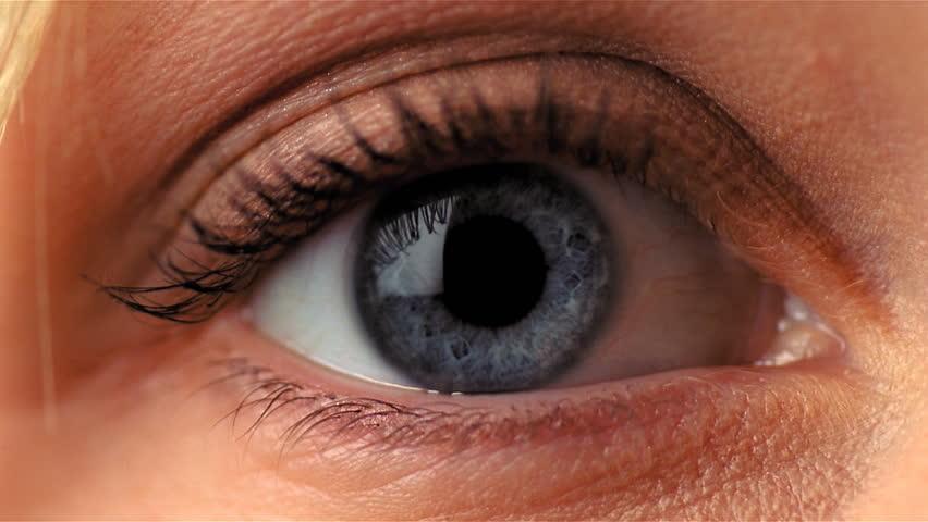 Closeup of female eye