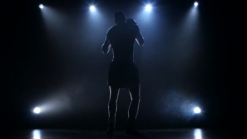 Boxer develops the right and left hook rear view   Shutterstock HD Video #21917272