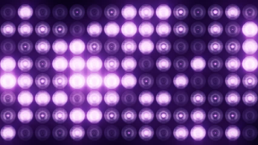 Blue Wall Of Lights Stage Sports Stadium Background Stock: Stadium Lights Reflectors Black Background Stock Footage