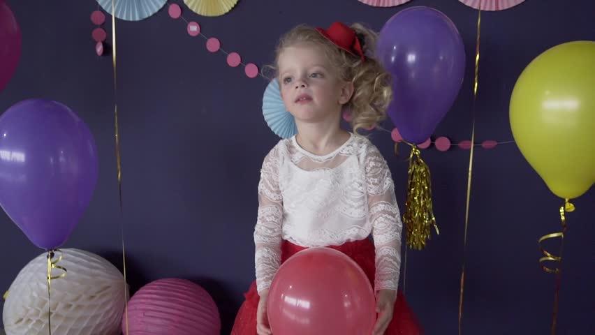 Portrait Of Little Cute Girl Stock Footage Video 100 Royalty Free 21938092 Shutterstock