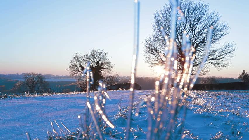 Winter snow, idyllic landscape