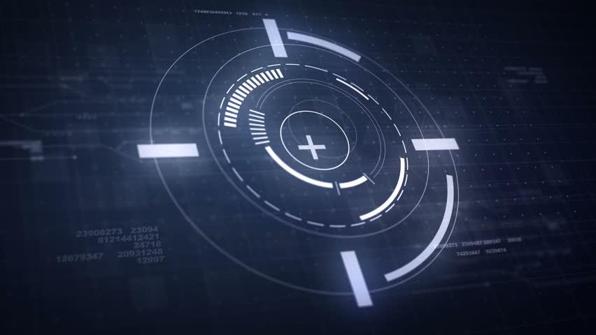 Hi-Tech Futuristic HUD Display Circle Elements Looping Animation 4K   Shutterstock HD Video #21943732
