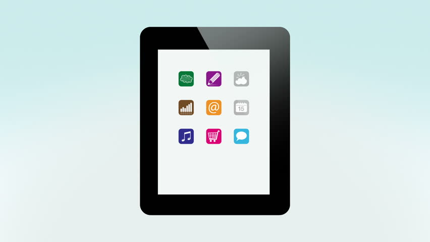Apps on Mobile Devices, Computers and TV   Shutterstock HD Video #2195251