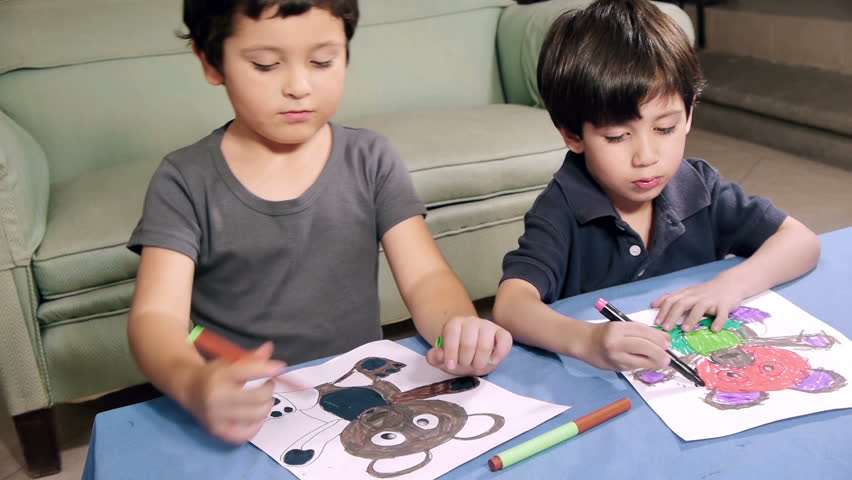 Young Boys Coloring Drawings (HD). 2 Brothers Of Hispanic Origin; 6 ...