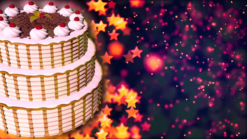 Happy Birthday Cake Loopable Abstract Stock Footage Video 100