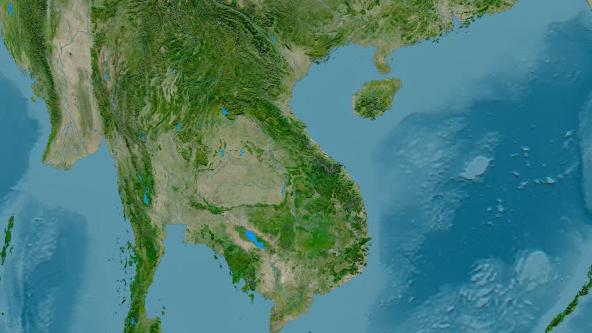 Zoom Into Annamite Mountain Range Stock Footage Video (100 ... Zoom In Satellite Maps on