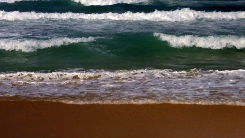 Stormy waves, Mediterranean Sea, South of Israel, filmed 50p