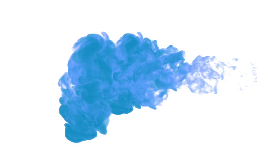Blue paint dissolved in water on a white background. 3d render. voxel graphics. computer simulation 6 | Shutterstock HD Video #22143742