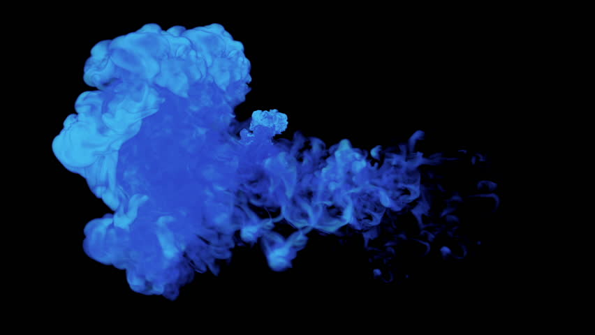 blue paint color underwater in 4k resolution stock footage video