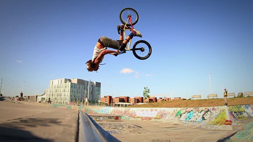 BMX Backflip in Super Slow Motion