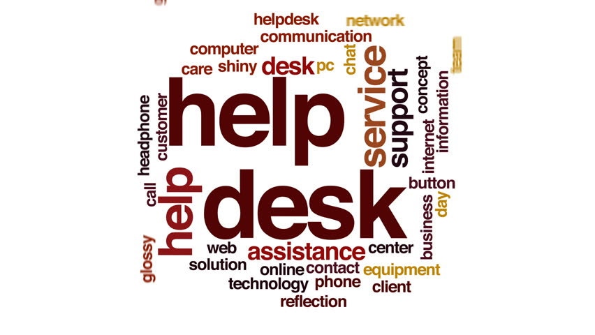 Stock video of helpdesk animated word cloud. | 22349335 | Shutterstock