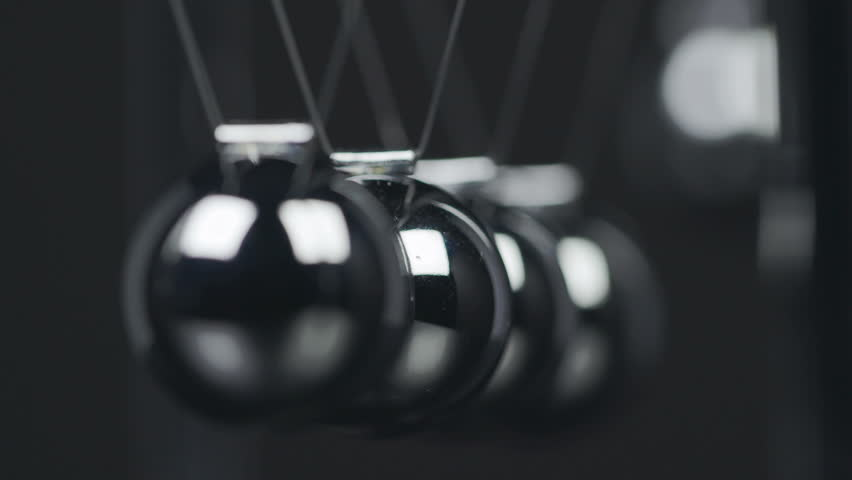 Slow motion shot of a Newton's Cradle. | Shutterstock HD Video #22200862